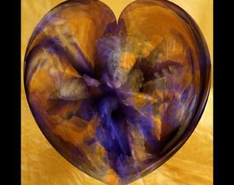 Amber Heart Print