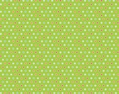 FLANNEL Riley Blake Green Mini Dot Colorful Christmas Design