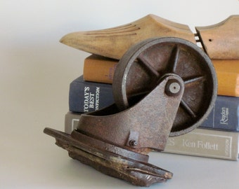 Iron Wheel Shelf Sitter Photo Prop Vintage and Rustic
