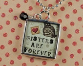 Sister Necklace Sisters Forever Pendant Sister Jewelry Gifts for Sister