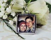 Groom's Wedding Boutonniere Photo Charm