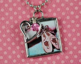 Ballet Necklace Ballet Slippers Pendant