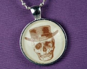 Heisenberg Necklace Breaking Bad Sepia Skull Halloween Jewelry