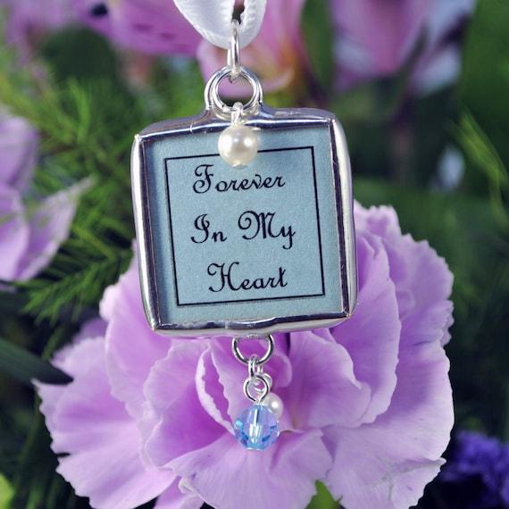 Blue Bridal Bouquet Charm : Something blue bridal bouquet photo charm wedding by