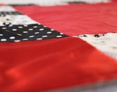 Baby Girl Blanket Red, Black and White Soft and Cozy Baby Girl Handmade Stroller Quilt Baby Girl Blanket EtsyKids Team