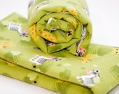 Burp Cloth Set of 2 Green and Animal Print Gender Neutral Burp Cloth Set Great for a Baby Boy or Baby Girl EtsyKids Team