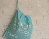 Knitting Project Bag, fun knitting storage. Shakespearian themed project bag.