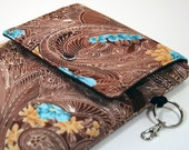 E-Reader Cover - Brown, Blue and Yellow - For Kindle 3 - Ready to Ship