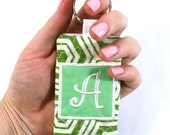 Keychain Card Holder - Personalized - Business Card, ID, Credit Card Holder - Monogrammed - Made to Order