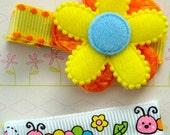 No slip hair clips for girls / flower