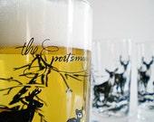 Vintage Drinking Glass Beer glasses Deer Hunting Sportsman Theme