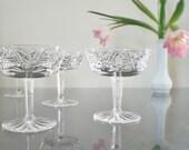 Vintage Champagne Glasses Mid Century Waterford Stemware