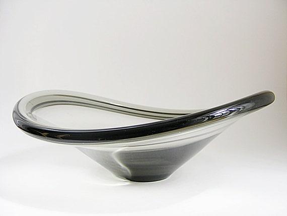 Mid Century Bowl, Danish Modern Art Glass Holmegaard   Per Lutken 1960Black Friday/ Cyber Monday