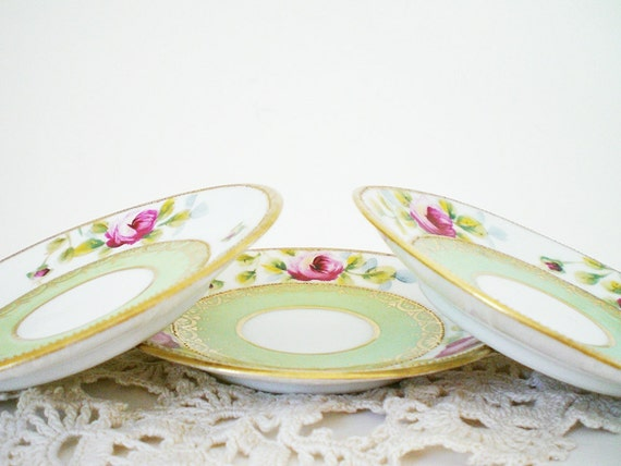 Vintage china saucers 3 recycled Shabby Chic Trinket Trays