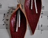 HEARTBEAT   Genuine Leather Beaded Earrings