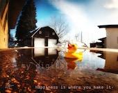 Happy Rubber Ducky 8x10 Print