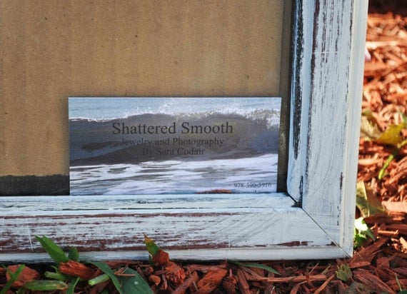 Shabby Chic Frame 8 x 10 - Upcycled - Hand Painted