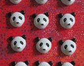 Panda Buttons 12 pc