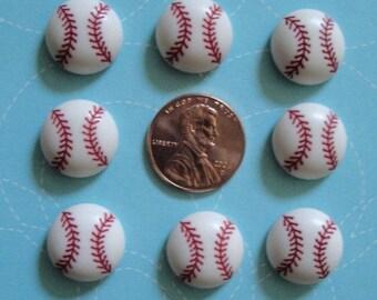 Baseball Buttons 10 pc