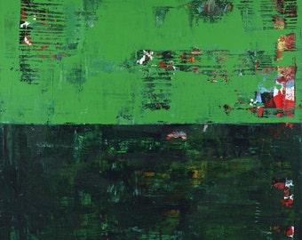 Green Abstract Art Painting Modern Herald