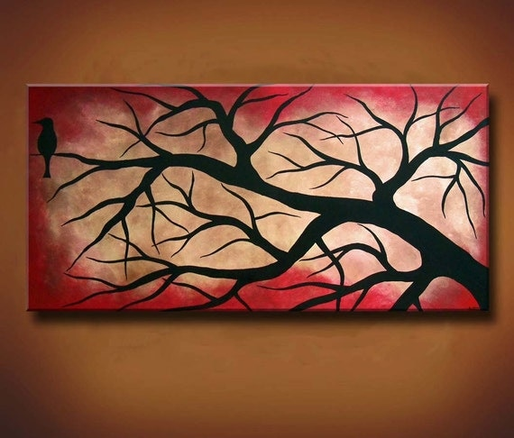SALE -- Was 250 Now 190 -- Nevermore: Ode to Poe Collection -- 48 x 24 Original Painting -- Available Now