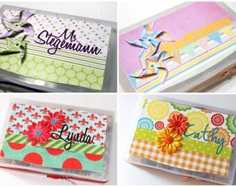 Teacher Appreciation Gift - Embellished organizer - organizer, school supplies, chocolate, candy