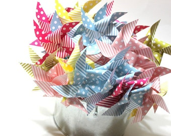 Pinwheel party favors - pixy sticks - birthday party, baby shower, bridal shower, wedding favor