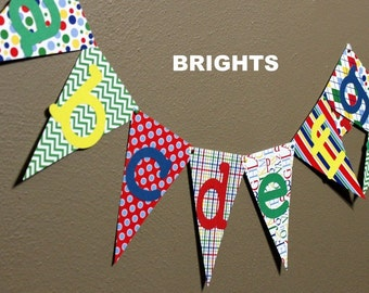 Alphabet Banner - great for kids rooms, playrooms, classrooms, teacher gift