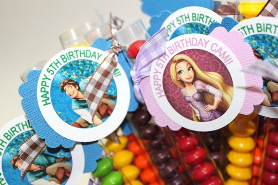 Tangled, Disney Princess or Cars Birthday (10) Party Favors