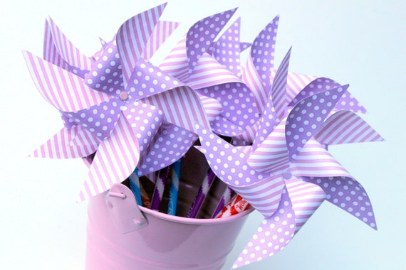 Pinwheel pixy stick - party favors - wedding favor, birthday party favors, baby shower favors, bridal shower, wedding favor