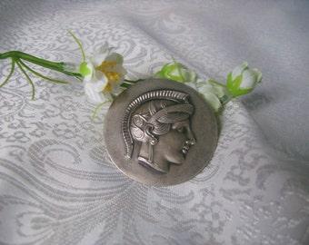 Italian Medallion Vintage Piece, Art Nouveau