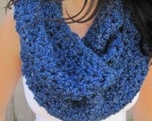 Colbalt Blue Long Cowl Scarf