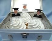 24 2 Dozen Vintage Cupcake Cake picks Female  or Male Graduate Graduation