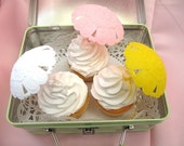 3 Vintage Umbrella Cake Cupcake Toppers For a Special Occasion Party