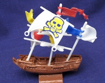 Pirate Ship Vintage Cake Topper for Special Occasion Party