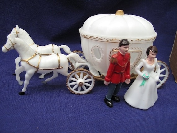 Vintage Set Parrish S Cake Topper Cinderella Carriage