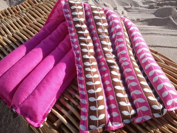 "Robert Kaufman Leaf Microwaveable Heating Pad 7""x20"" - Lavender from France - Primrose Mingle Pink"