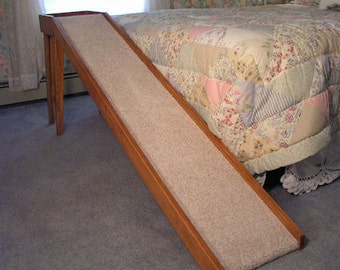 Wooden Dog/Cat Ramps For Bed or Sofa Made up of  Oak Wood 16 Inches with Wide Normal Slope