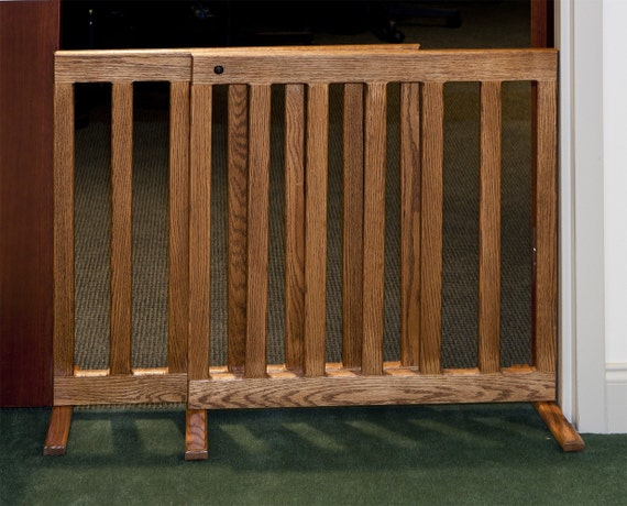 Expandable Gate 28 Inch Tall Oak or Maple Wood 60 Inch Wooden For Dog or Puppy