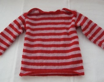 Beautiful pure wool striped sailor sweater..... made in New Zealand... MADE TO ORDER