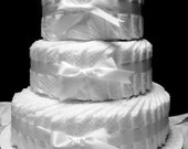 Diaper Cake - All White - Undecorated - 3 Tier