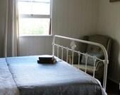 PAIR rustic grey wool blankets - single bed - PerpetualOne