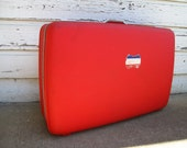 Red American Tourister Suitcase