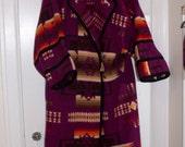 SALE Pendleton Vintage Southwest Blanket Wrap Robe Oversized Navajo Rare Large