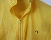 Men's OP (Ocean Pacific) Yellow Windbreaker Size M