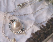 Bellas New Moon sterling silver pearl necklace inspired by Alices Vision Twilight