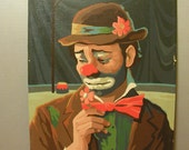 Vintage Paint By Number, The Sad Clown