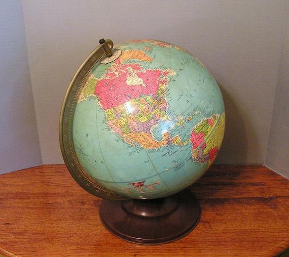Vintage Globe Replogle 12 inch precision globe antique