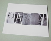 party eco-friendly postcard (100 percent recycled paper)