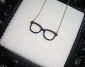 Black Framed Glasses Necklace